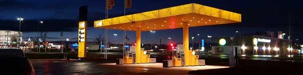 Gul tankstation